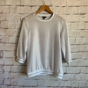 Conrad C Collection Shirt, Shimmery White Loose XS